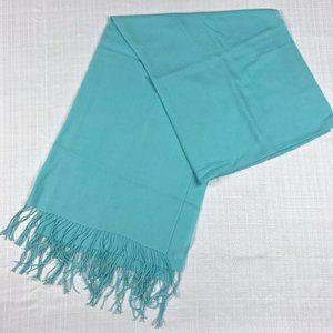 Nordstrom cashmere/wool blend aqua scarf/shawl